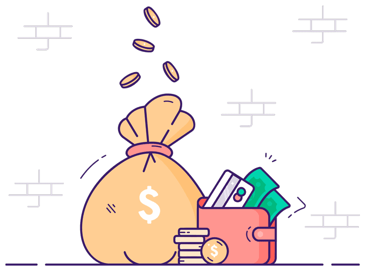 Image of illustrated savings