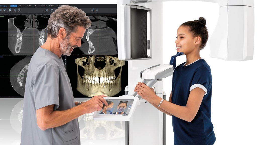 Staff member taking a cbct scan for Dental Implants procedure