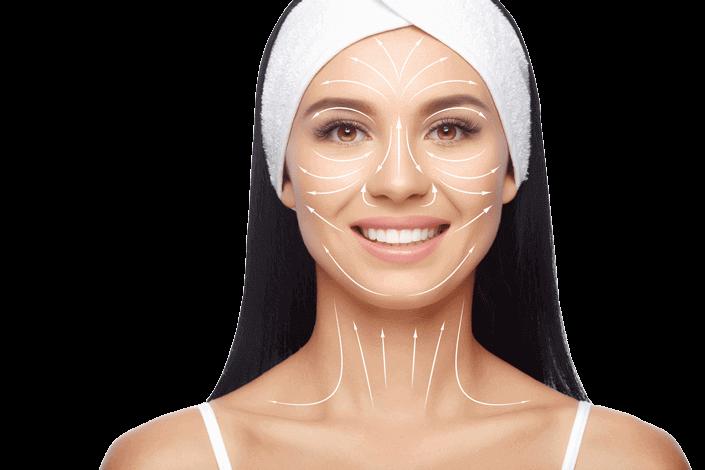 image illustration showing treatable areas with skin rejuvenation