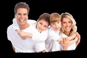 image of dental family